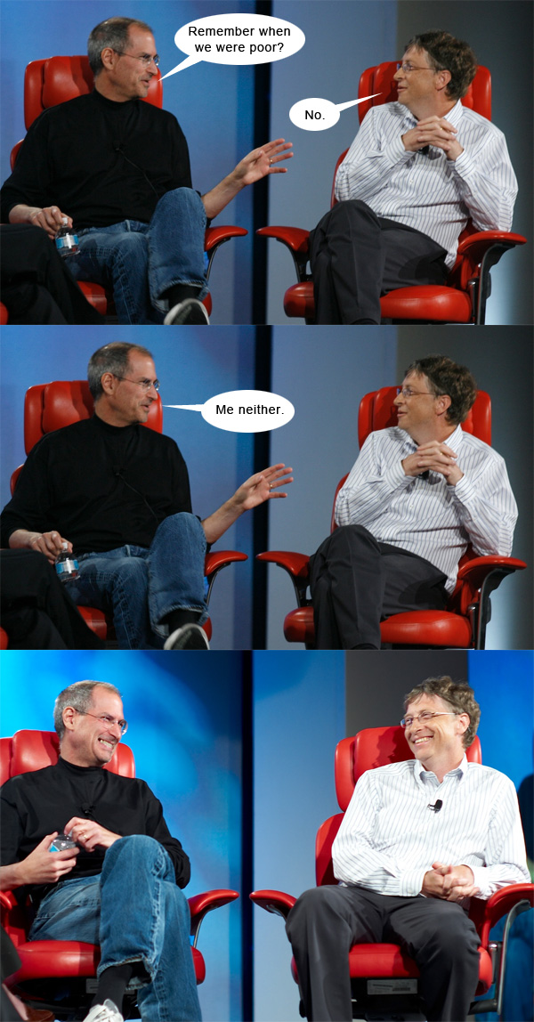 differences between bill gates and steve jobs
