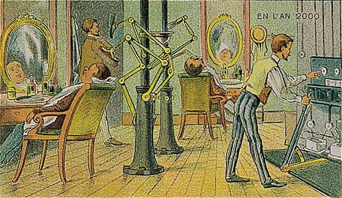 World in 2000 as predicted in 1910 - Paris 2000 hair salon ...