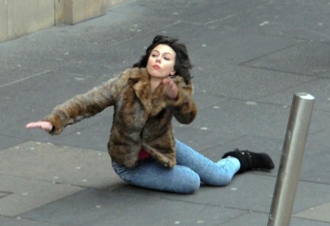 Scarlett Johansson Falls Down Internet Takes Over