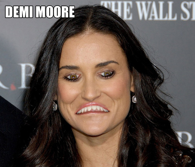 Celebrities With Inverted Mouths And Eyes