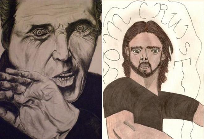 CUSTOM Terrible Celebrity Paintings