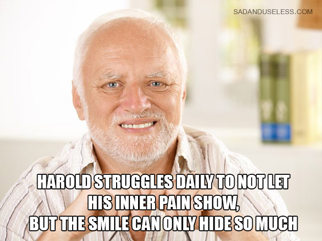 Meet Hide The Pain Harold