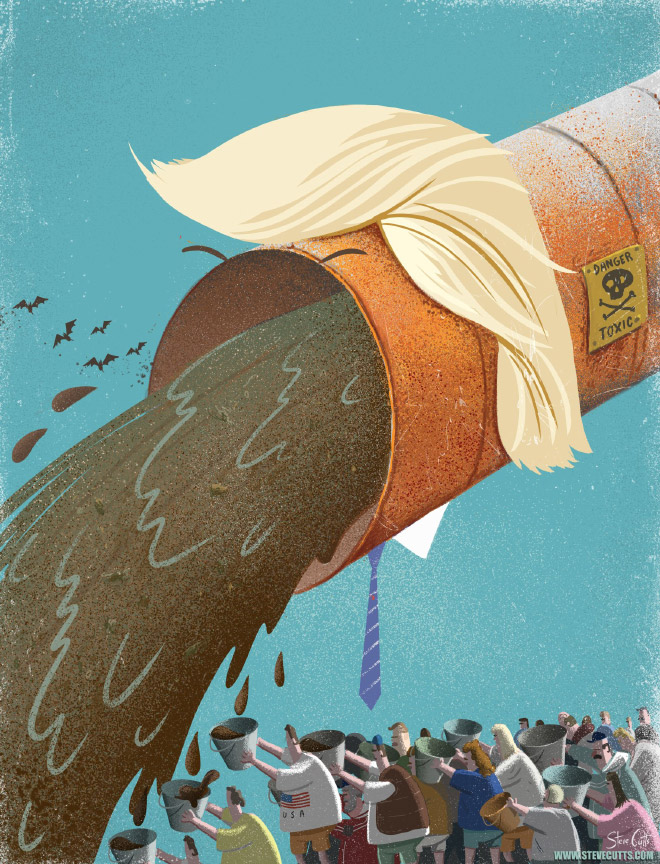 Modern World Illustrated By Steve Cutts