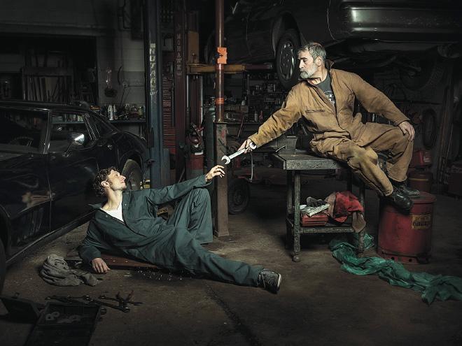 Auto Mechanics Recreate Renaissance Paintings