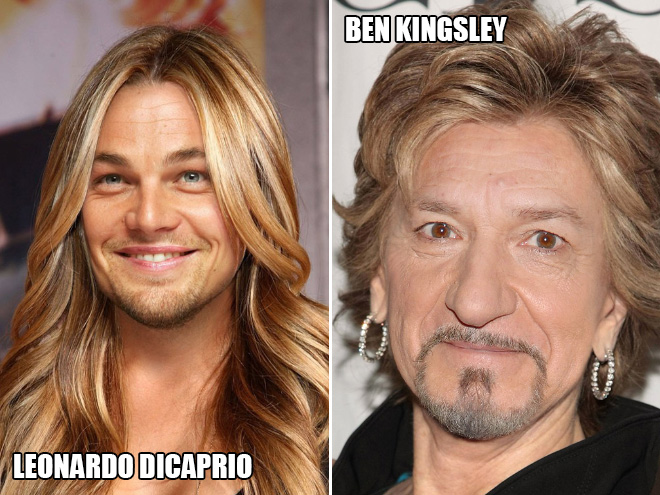 Leonardo DiCaprio and Ben Kingsley