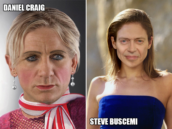 Daniel Craig and Steve Buscemi