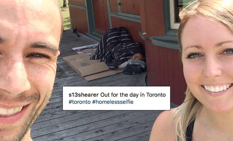 Selfies With Homeless People Is a New Repulsive Trend