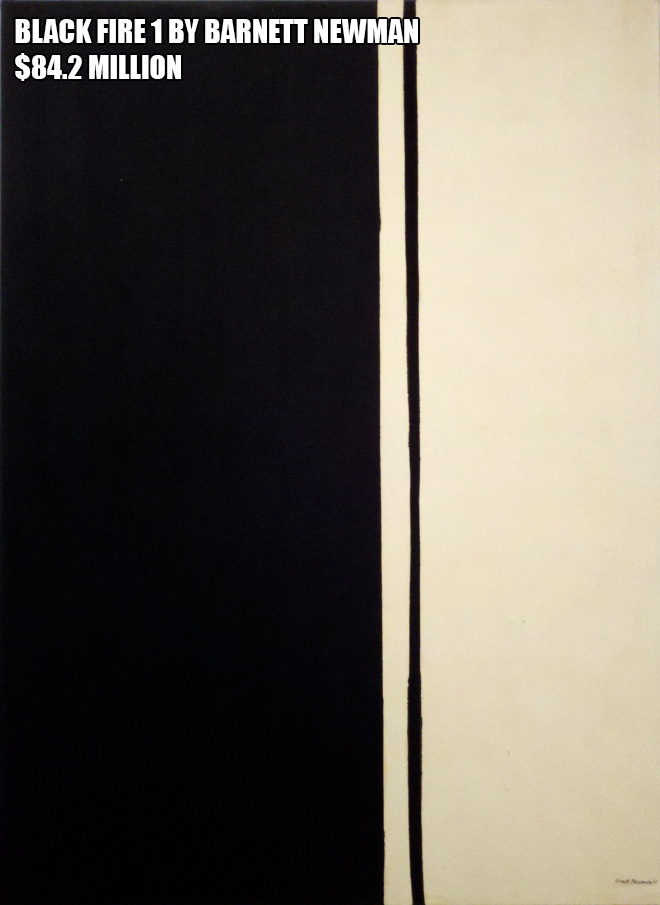 Black Fire 1 by Barnett Newman - $84.2 million