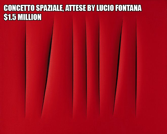 Concetto spaziale, Attese by Lucio Fontana - $1.5 million