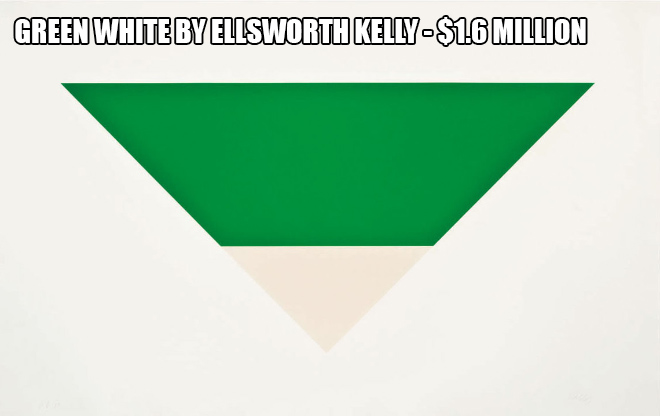 Green White by Ellsworth Kelly - $1.6 million
