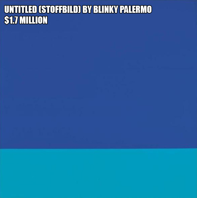 Untitled (Stoffbild) by Blinky Palermo - $1.7 million