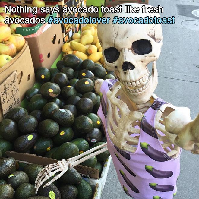 Nothing says avocado toast like fresh avocados.
