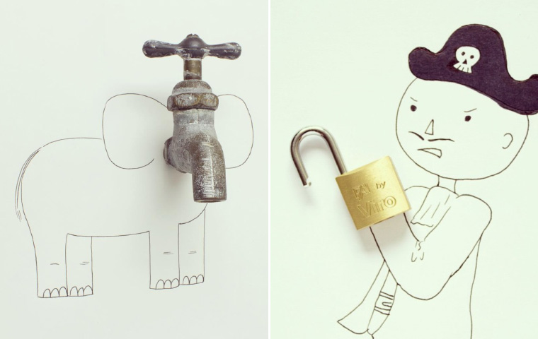 Everyday Objects Turned Into Clever Illustrations