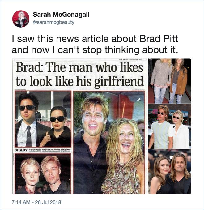 is brad pitt dating anyone now