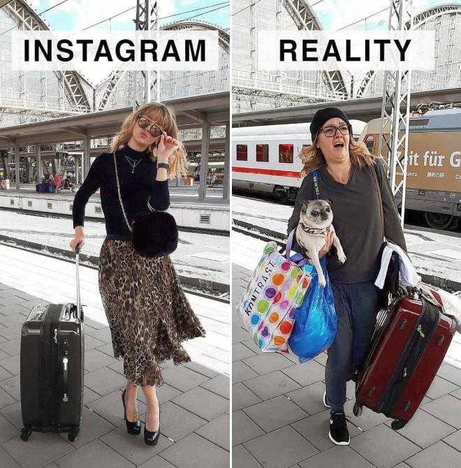instagram vs reality german artist makes fun of all