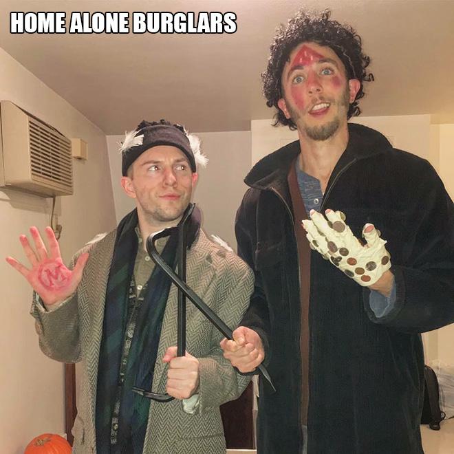 Home Alone burglars Halloween costume.