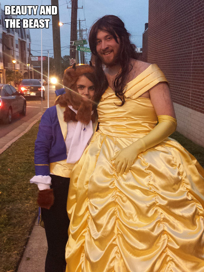 The Beauty And The Beast Halloween costume.