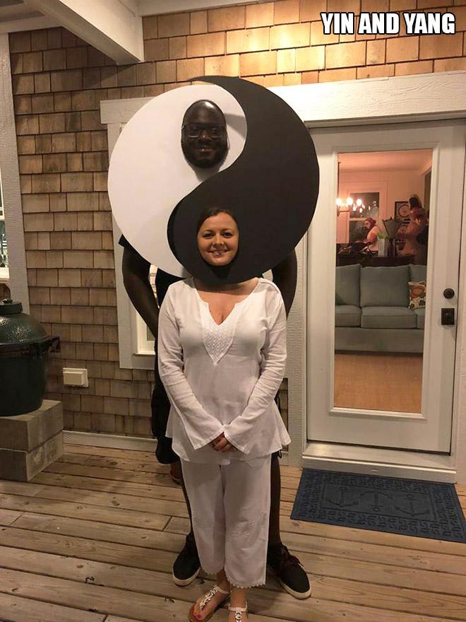 Yin and Yang Halloween costume.