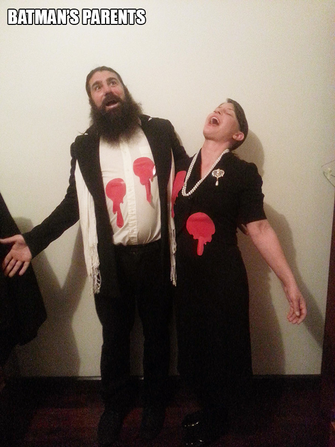 Batman's parents Halloween costume.