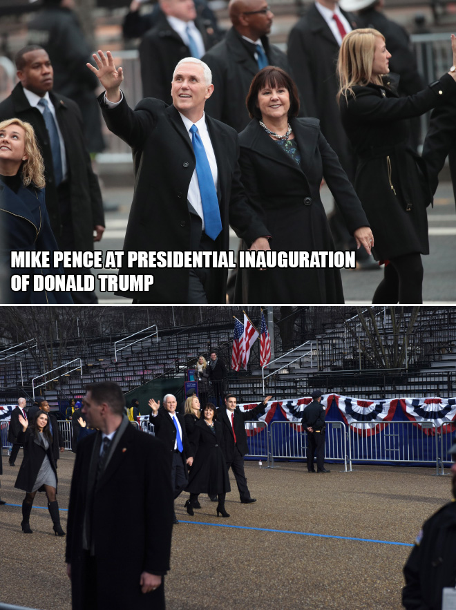 Mike Pence at presidential inauguration of Donald Trump.