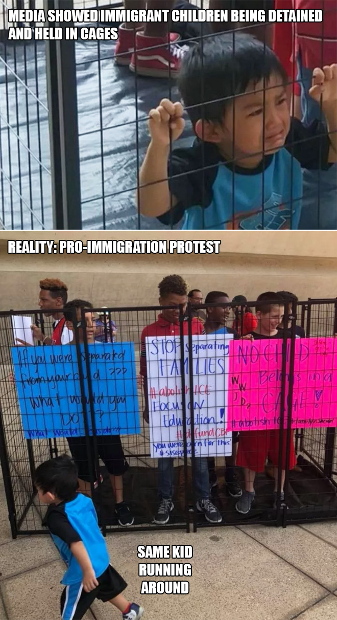 Pro-immigration protest.