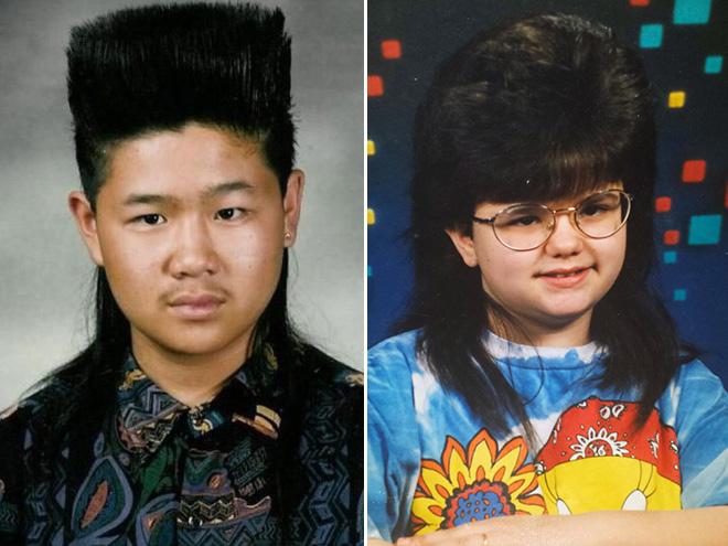 Funny 1980s kids' haircuts.