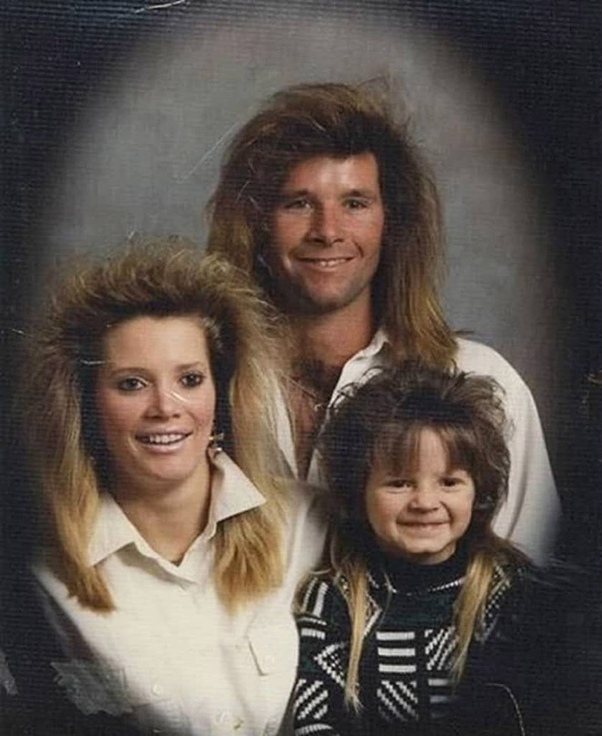 Typical 1980s family portrait.