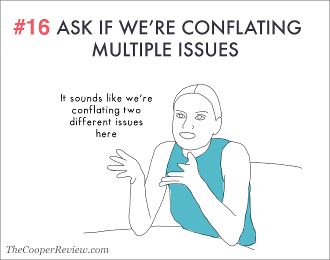 Ask if we're conflating multiple issues.