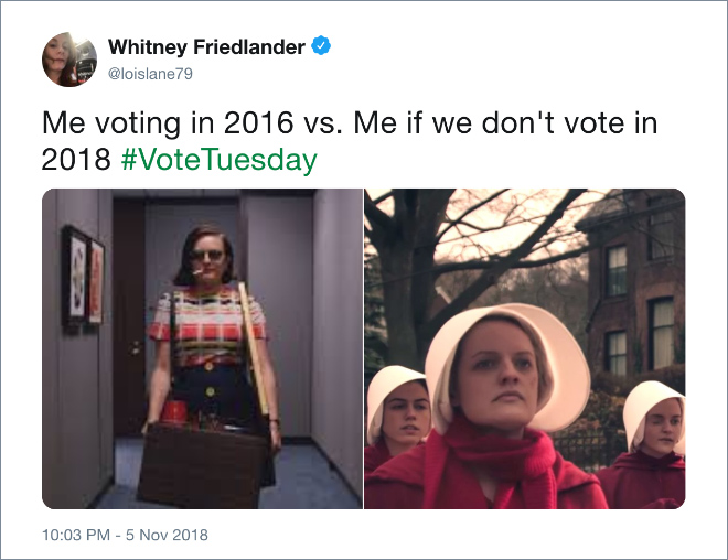 Me voting in 2016 vs. Me if we don't vote in 2018 #VoteTuesday