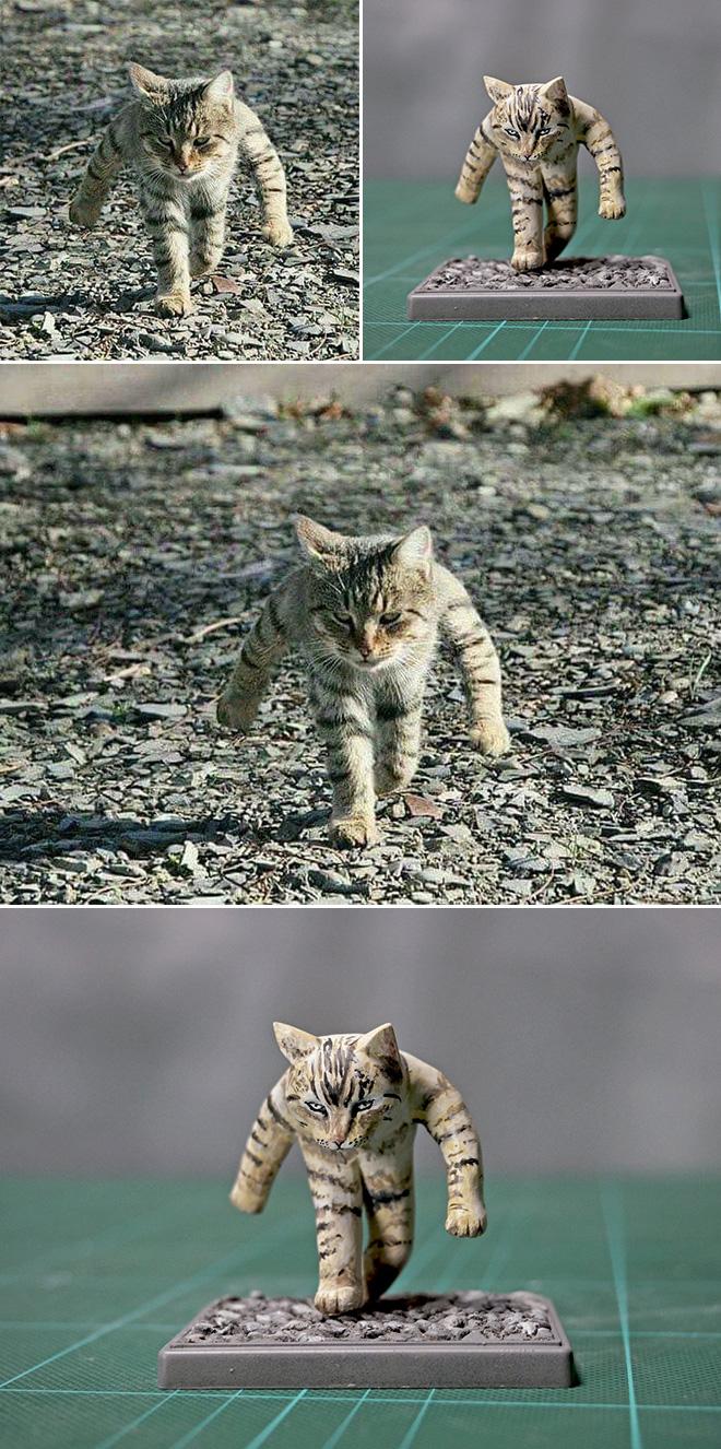 Funny cat sculpture.