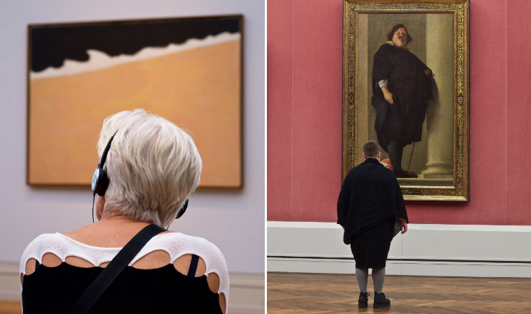 Photographer Spends Eternity Waiting For Museum Visitors To Match Artworks…
