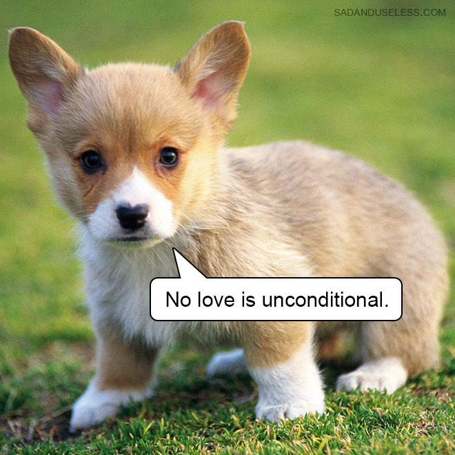 No love is unconditional.