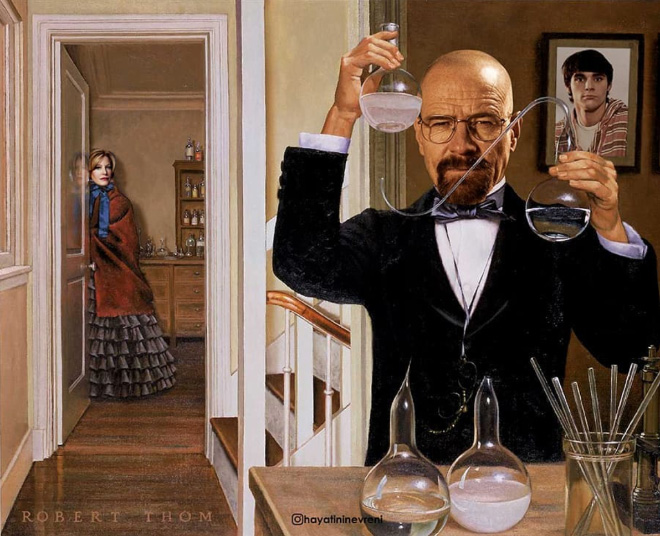 Breaking Bad mashed with classic art.