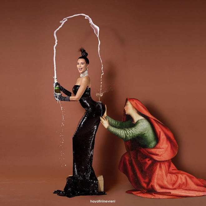 Kardashian meets classic art.
