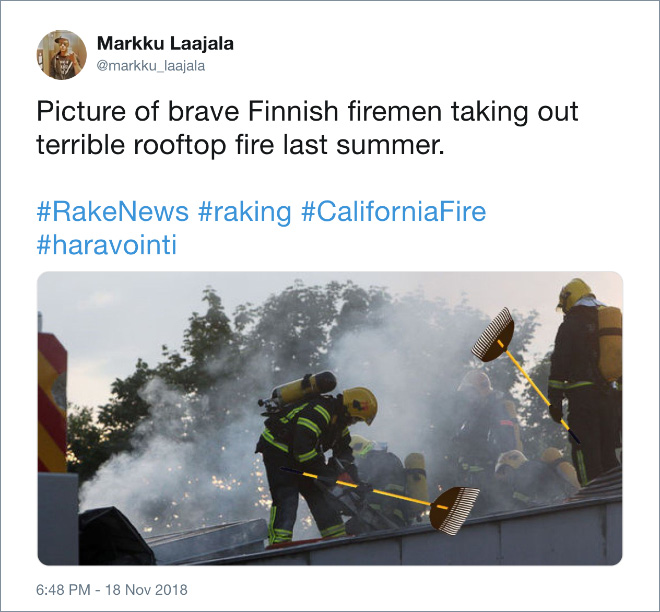Heroic Finnish firemen.
