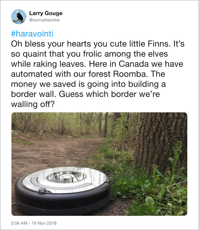 Forest Roomba in action.