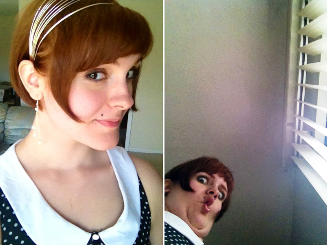 Same girl, different photos.