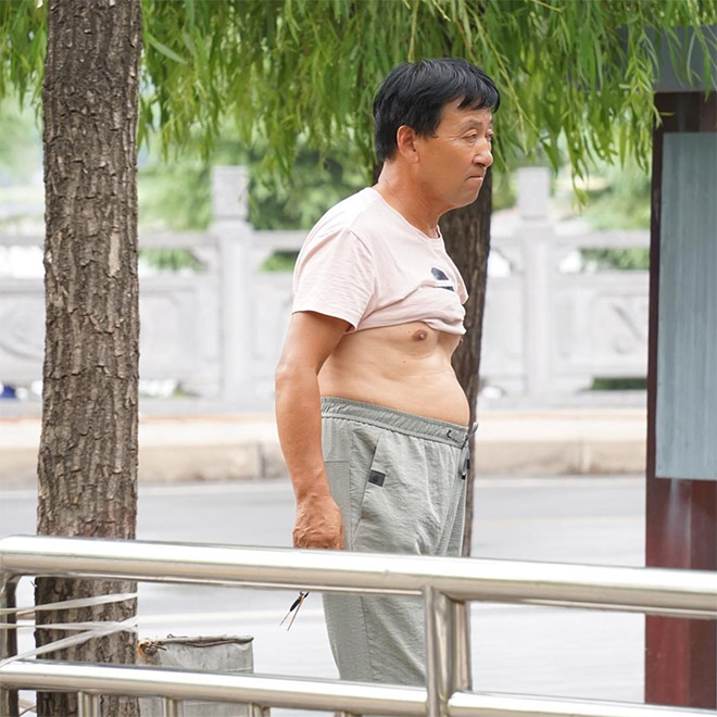He's taking Beijing bikini to the next level.