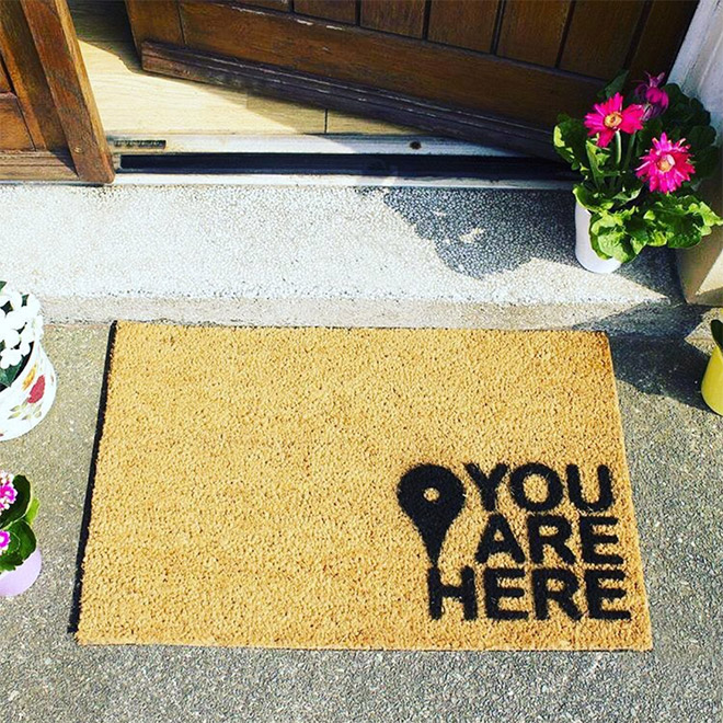 Google maps doormat.