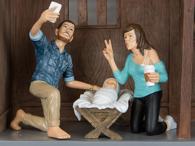Hipster Christ can turn water into craft beer.