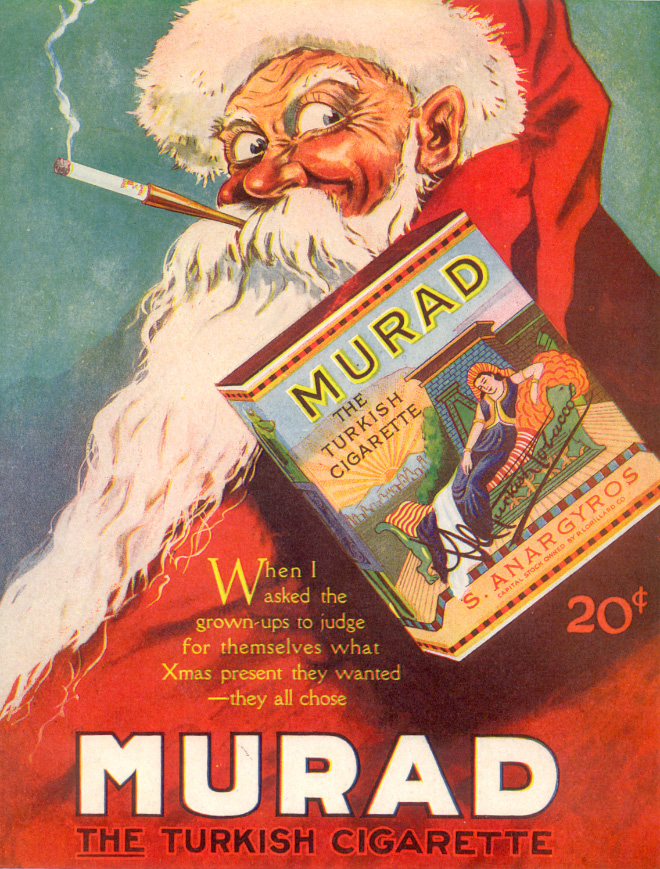 Santa loves Murad cigarettes.