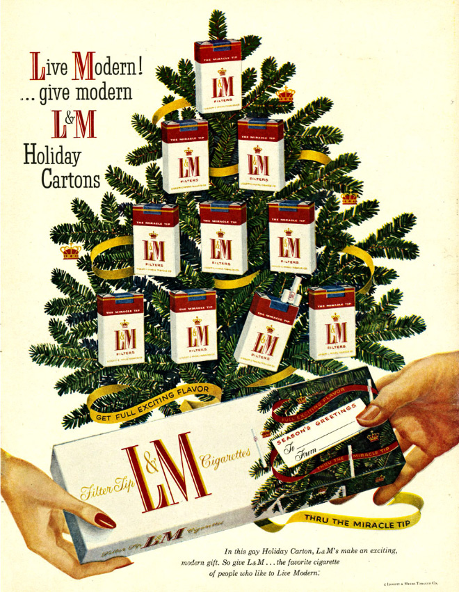 L&M Christmas tree.
