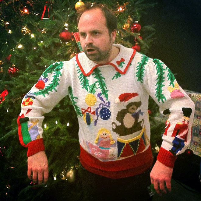 Extremely ugly Christmas sweater.