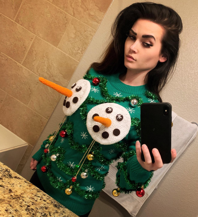 Brilliant ugly Christmas sweater.