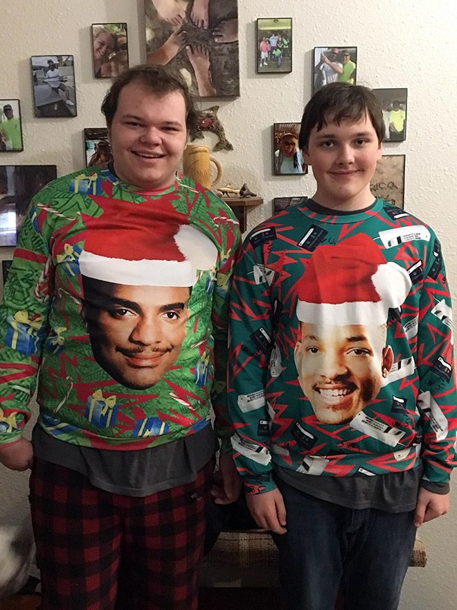 They both look lovely. Excellent sweater choice.