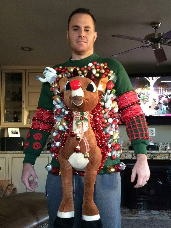 He took ugly Christmas sweaters to a whole new level.