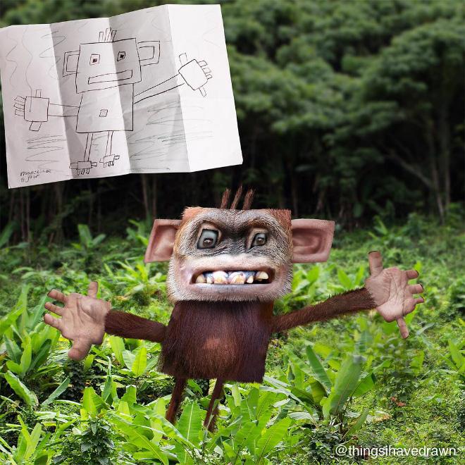 Monkey doodle comes alive.