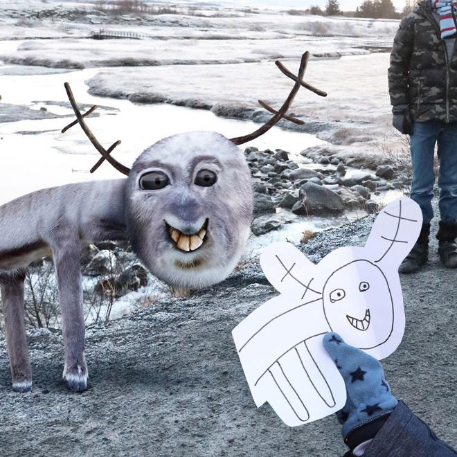 Reindeer doodle comes alive.