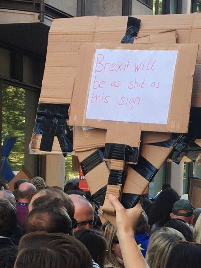 Brexit will be as shit as this sign.