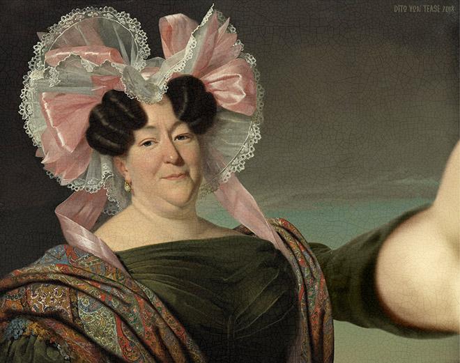 Portrait of an Unknown Woman selfie.